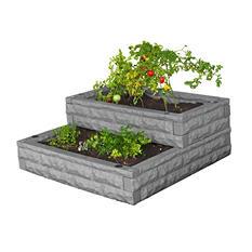 Good Ideas Garden Wizard Tiered Cascade, Self-Water Raised Garden Bed