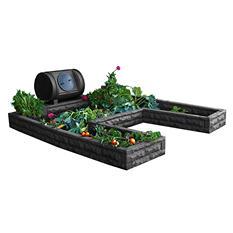 Garden Wizard Hybrid Keyhole Garden - Dark Granite