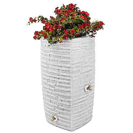 Impressions Riverwalk 50-Gallon Rain Saver - White Granite