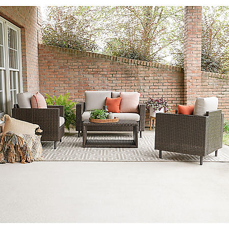 Conway 4-Piece Outdoor Seating With Sunbrella Fabric