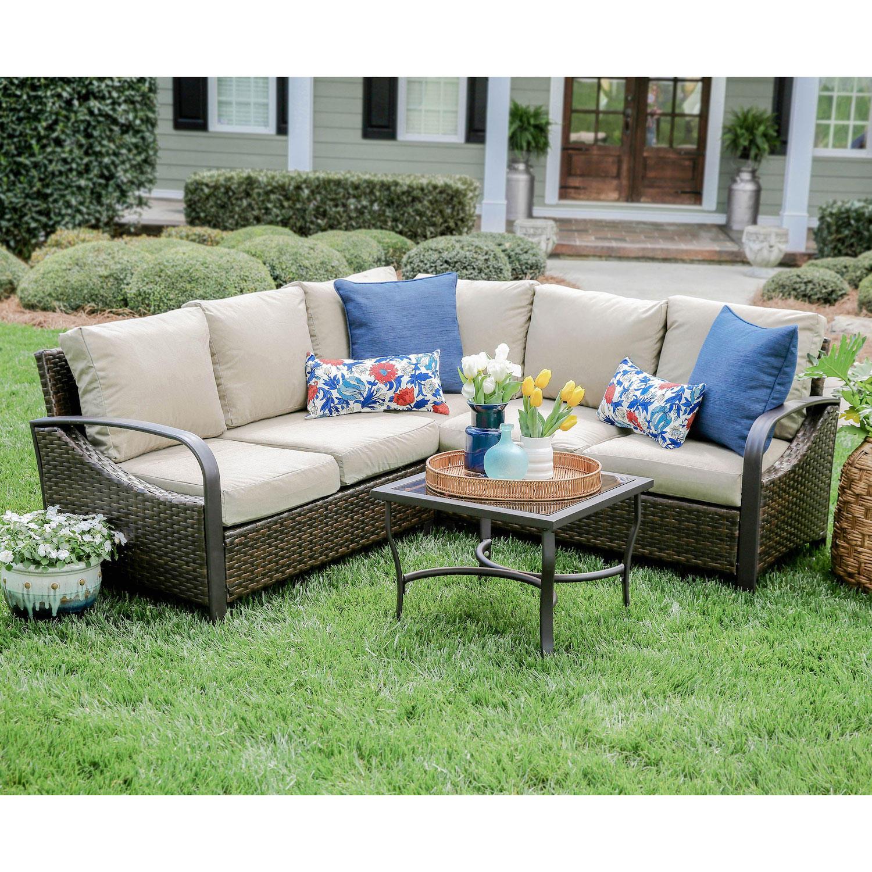 Harrison 4-Piece Outdoor Sectional Sofa With Sunbrella Fabric