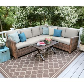 Truman 5-Piece Outdoor Sectional With Sunbrella Fabric