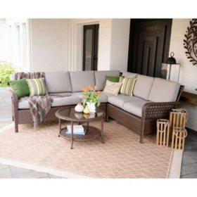 Jones 5-Piece Outdoor Sectional With Sunbrella Fabric