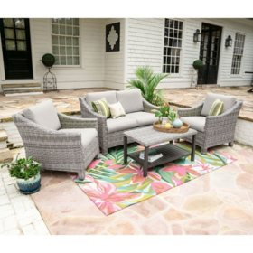 Reynold 4-Piece Outdoor Seating With Sunbrella Fabric