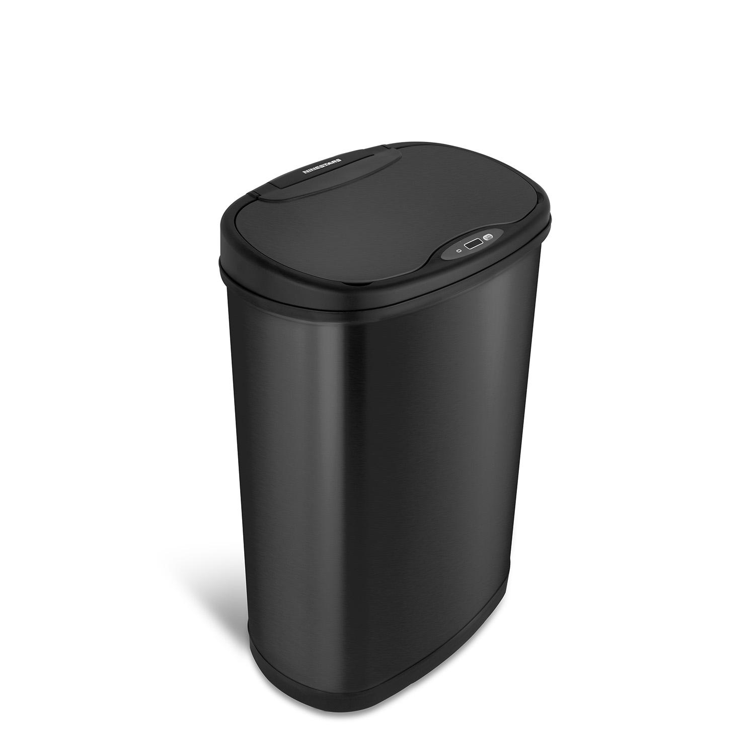 Nine Stars 13.2-Gal. Stainless Steel Sensor Trash Can