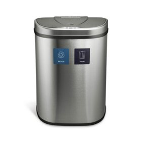 Nine Stars 18-Gallon Stainless Steel Motion Sensor Recycle Can