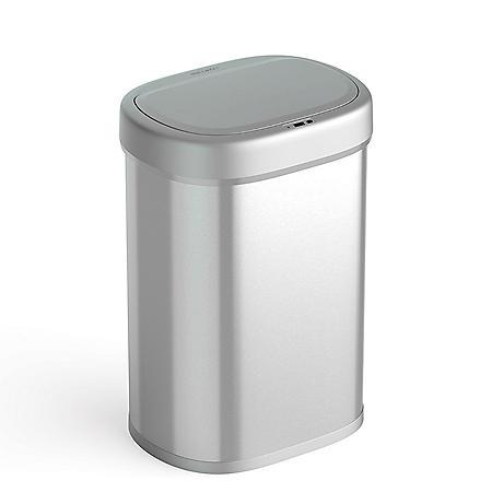 Nine Stars 21-Gallon Motion Sensor Trash Can, Stainless Steel