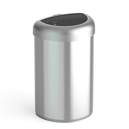 Nine Stars 21-Gallon Open Top Trash Can, Stainless Steel