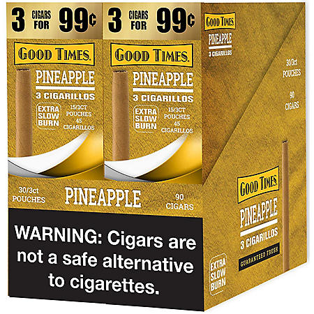 Good Times Pineapple Cigarillos (2 boxes, each 3 pk., 15 ct.)
