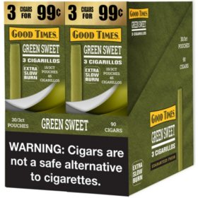 Good Times Green Sweet Cigarillos (2 boxes, each 3 pk., 15 ct.)