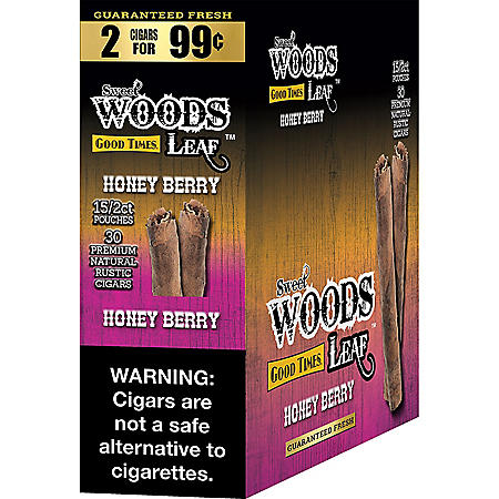 Sweet Woods Leaf Honey Berry Cigars Pre-Marked 2/$0.99 (2 ct., 15 pk.)