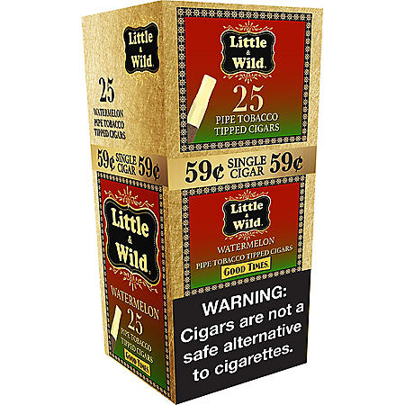 Good Times Little & Wild Pipe Tobacco Tipped Cigar Watermelon (25 ct.)