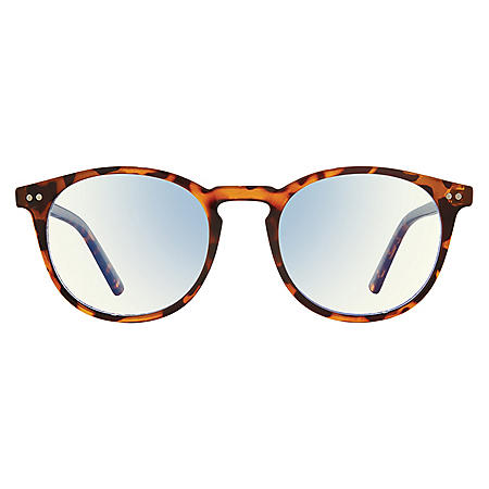 The Maestro, Anti Blue Light Blocking Lenses, Chestnut Brown Tort/Clear
