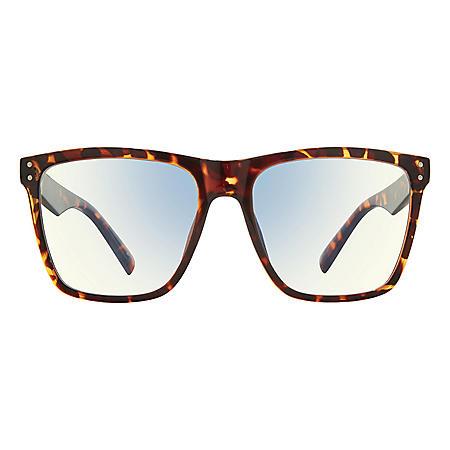 The MLK, Anti Blue Light Blocking Lenses, Warm Copper Tortoise/Clear