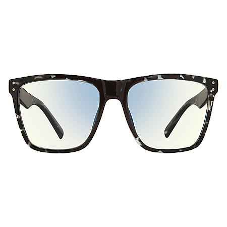 The MLK, Anti Blue Light Blocking Lenses, Gunmetal Tortiose/Clear