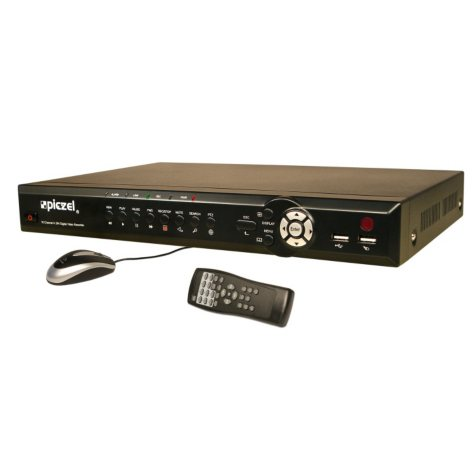 Piczel 5216 16 CH H.264 Codec DVR with 500GB HDD, Internet, 3G/4G Smartphone Monitoring, e-mail and Text Message Alerts