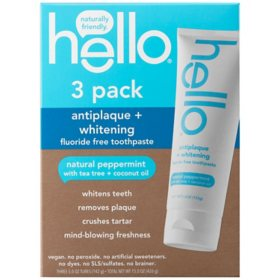 hello Activated Charcoal Epic Whitening Fluoride Free Toothpaste (5 oz., 3 pk.)