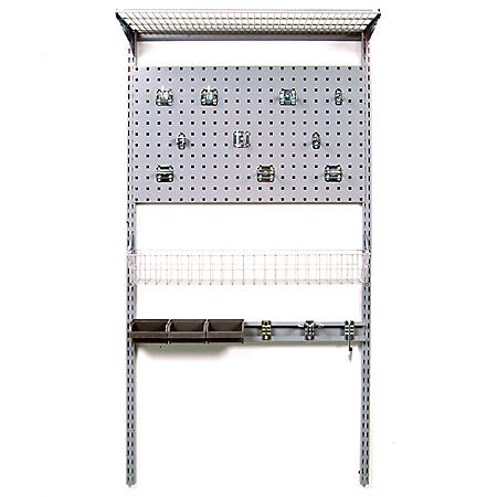 """33"""" x 63"""" Wall-Mount Storage System with LocBoard"""