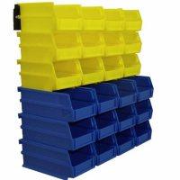 Wall Storage Kit (24 Bins, 2 Wall Mount Rails)
