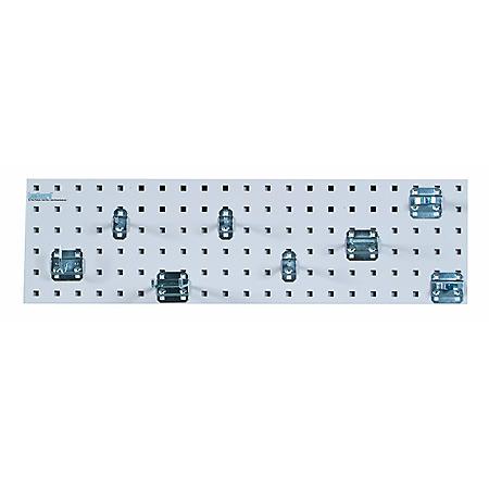 "LocBoard 31.5"" x 9"" Tool Storage Pegboard Kit (White)"