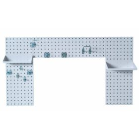 LocBoard Laundry Room Pegboard Organizer Kit (White)