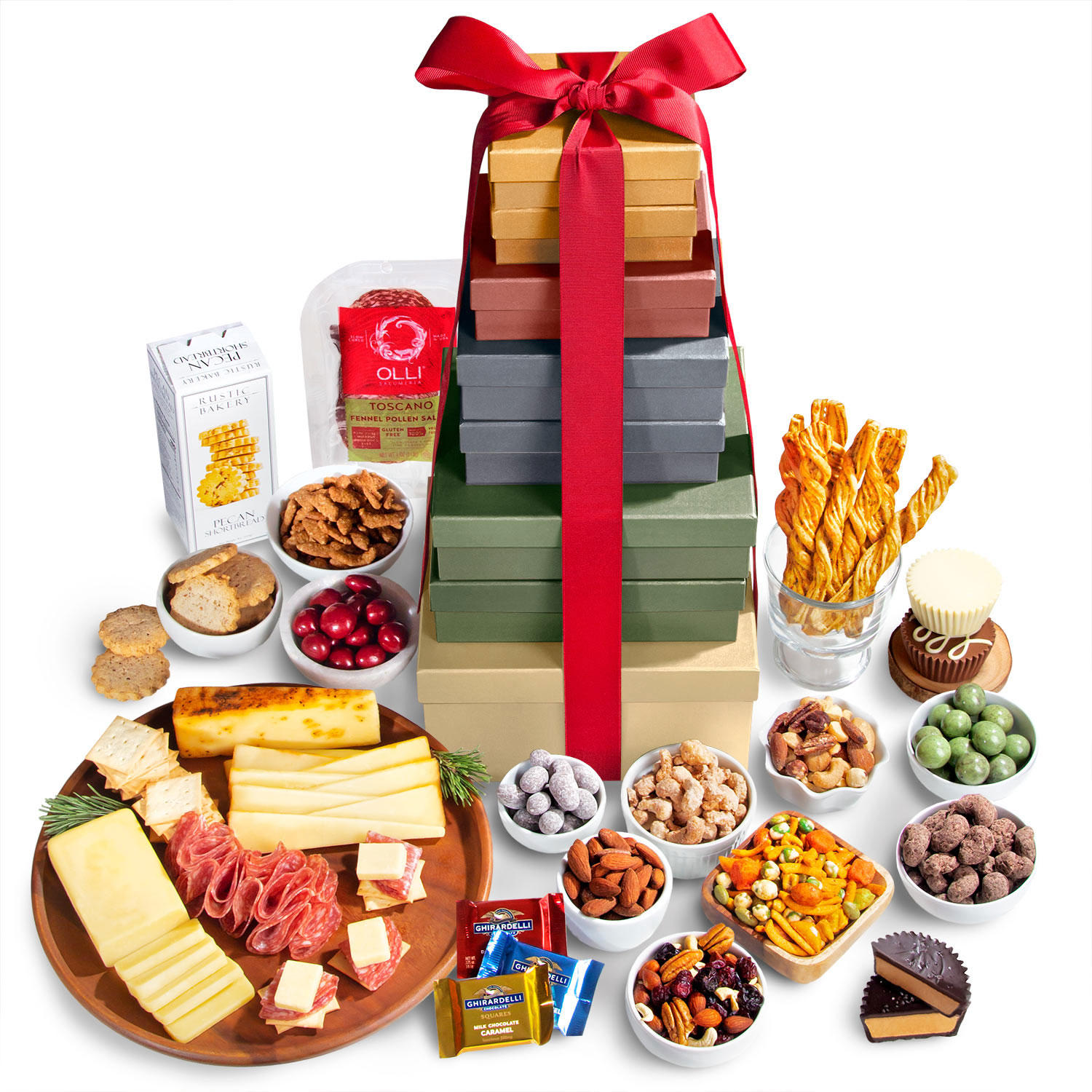 Golden State Fruit Holiday Extravaganza Sweet & Savory Gift Tower