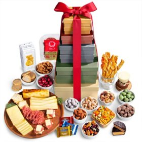 Sams club simply sugar free gift basket holiday extravaganza fruit chocolate and gourmet gift tower negle Image collections