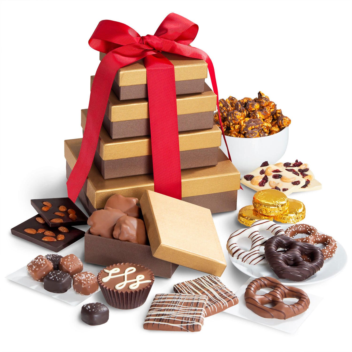 Golden State Fruit Chocolate Indulgence Deluxe Gift Tower