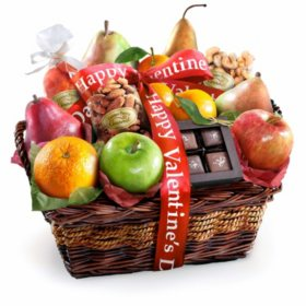 Happy Valentine's Day Orchard Delight Fruit and Gourmet Gift Basket