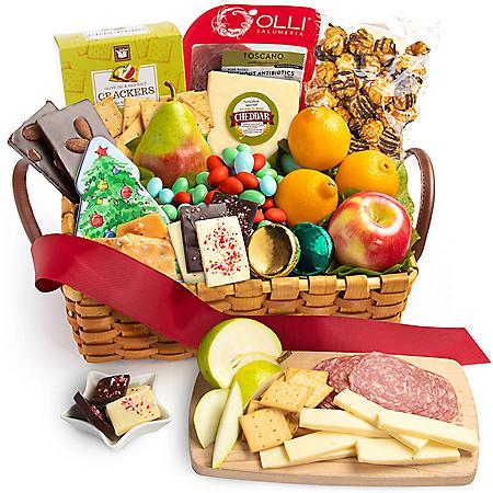 Sweet Christmas Snack Basket