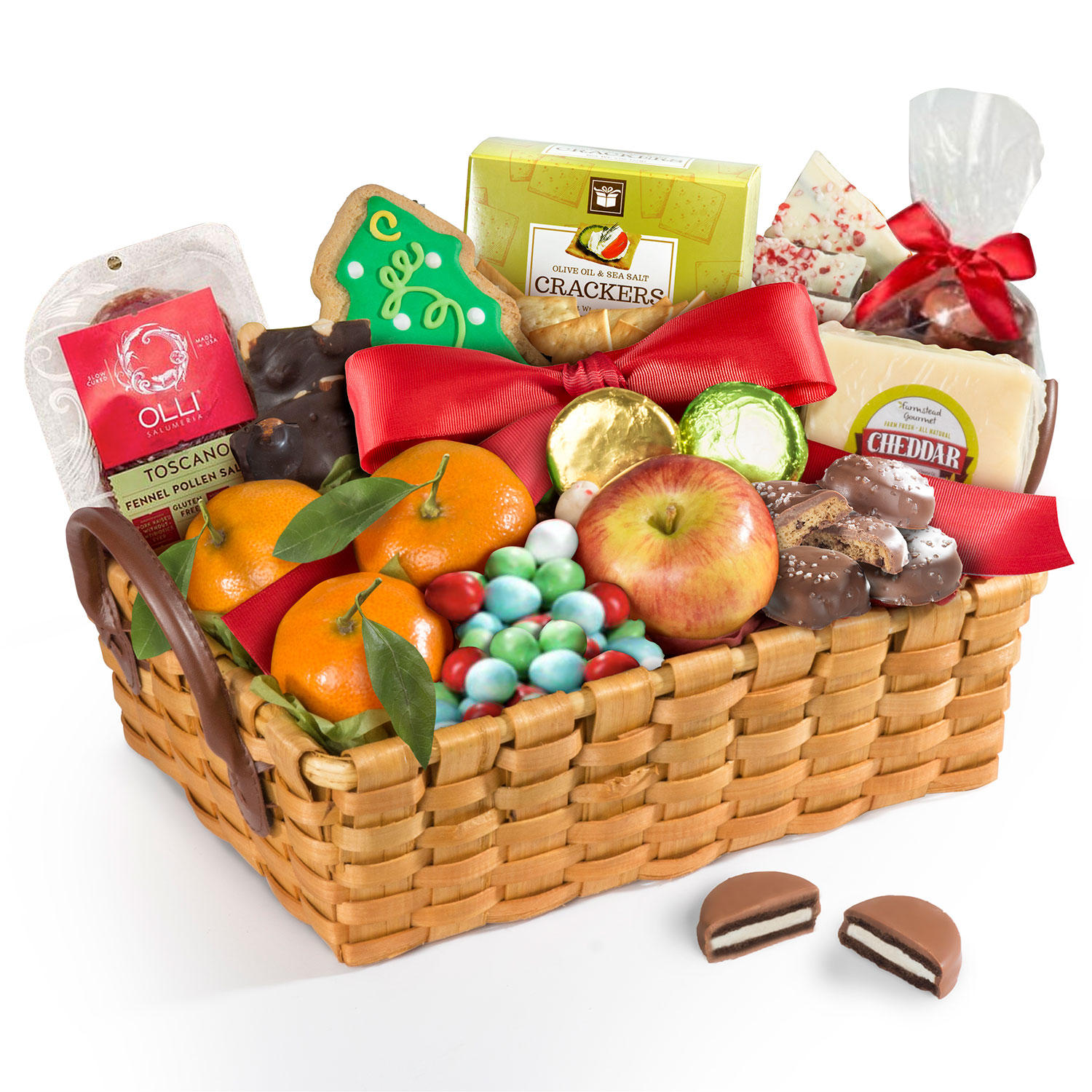 Golden State Fruit Sweet Christmas Snack Basket