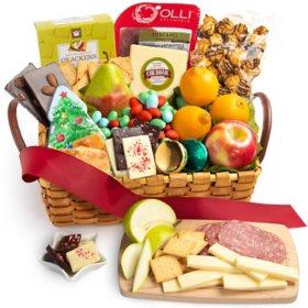 Fresh Fruit and Snacks Gourmet Gift Basket