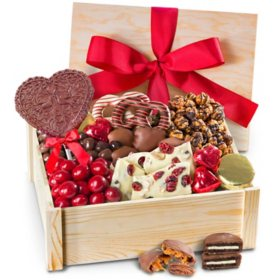 Valentine's Day Deluxe Chocolate Gift Crate