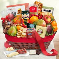 Golden State Fruit Christmas Tidings Gift Basket