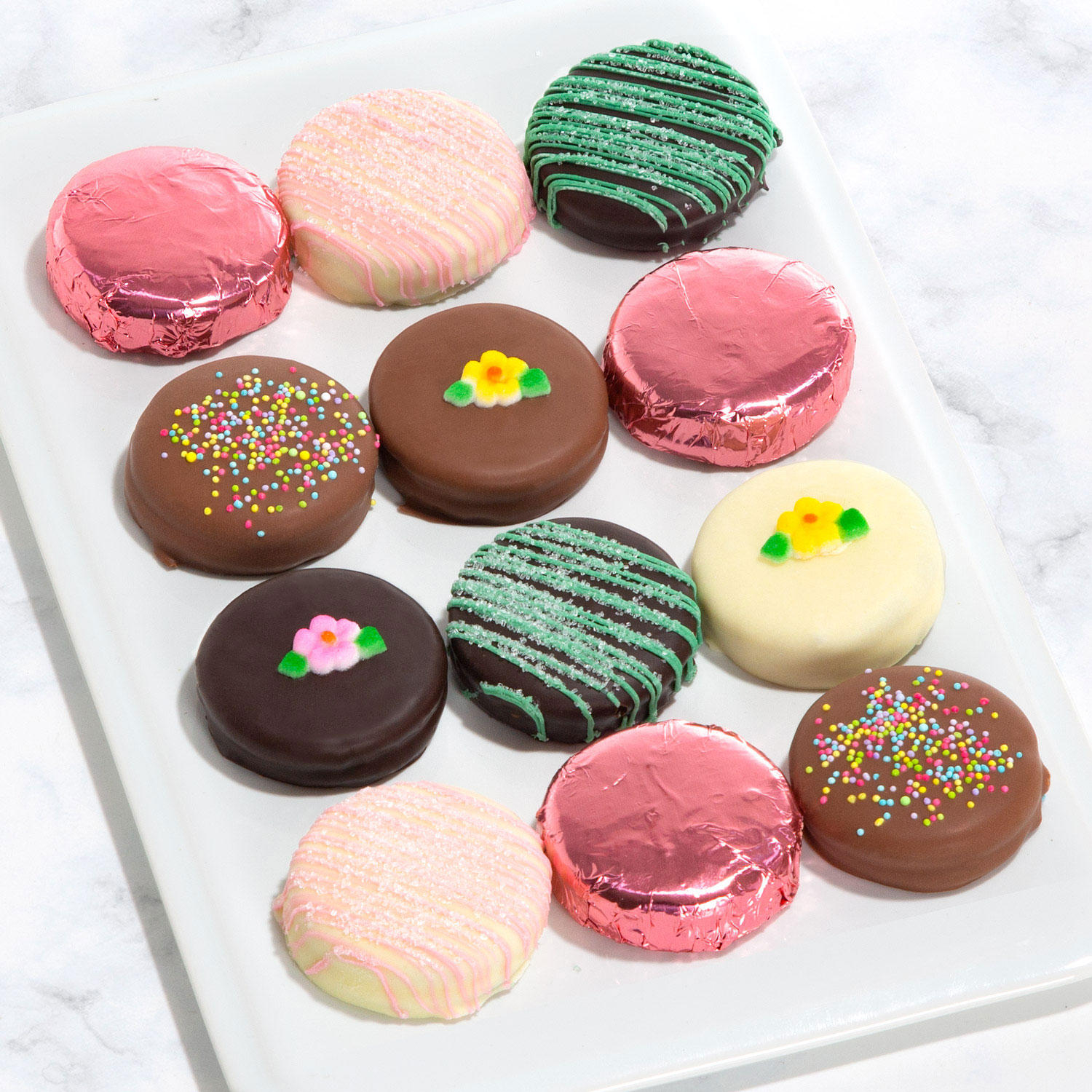 12-Count Golden State Fruit Spring Chocolate Covered Oreos