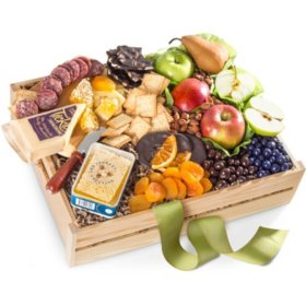 Fresh Fruit, Cheese and Charcuterie Crate