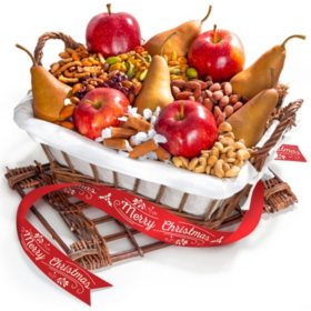 Fresh Fruit & Gourmet Snacks Gift Hamper