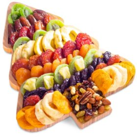 Fun & Festive Christmas Tree Shaped Dried Fruit Tray