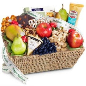 Flavors to Savor Fruit & Gourmet Treats Gift Basket
