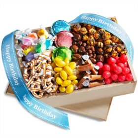 Happy Birthday Chocolate Sweets and Treats Gift Crate