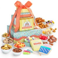 Deals on Happy Birthday Sweets & Snacks Tower