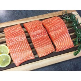 Norwegian Antibiotic-Free Sashimi-Grade Atlantic Salmon, Skinless (5 oz. ea., 16 ct.) delivered to your doorsteps