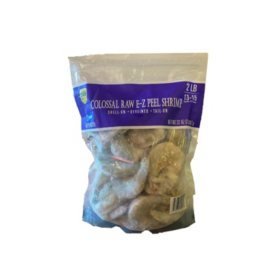 Frozen Colossal Raw E-Z Peel Shrmp (32 oz., 13-15 shrimp per pound)
