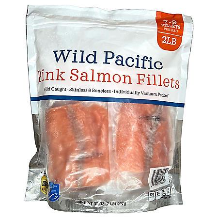 Wild Caught Alaskan Pink Salmon Fillets, Frozen (2.5 lbs.)