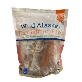 Wild Caught Alaskan Pink Salmon Fillets, Frozen (2.5 lbs.)