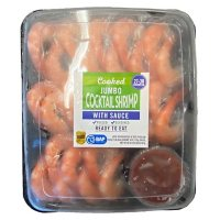 Cooked Jumbo Cocktail Shrimp with Sauce (2 lbs.)