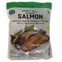 Honey Dill Seasoned Atlantic Salmon, Frozen (2 lbs.)
