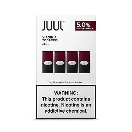 JUUL E-Liquid Virginia Tobacco Flavor 5% Nicotine Pod (4 pk
