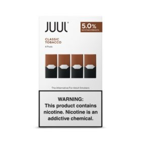 JUUL E-Liquid Classic Tobacco Flavor 5% Nicotine Pod (4 pk.)