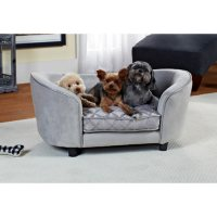 Enchanted Home Pet Ultra Plush Quicksilver Pet Bed, Medium Dogs Up To 30 lbs